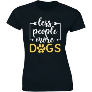 Less People More Dogs Funny Animal Pet Dog T-shirt